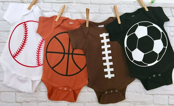 Baseball BasketBall Soccer Football Sports Fanatic Baby Bodysuits