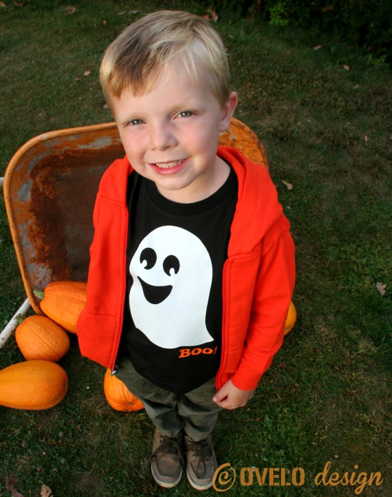 BOO! Ghost that GLOWS in the DARK Pick T-shirt or Baby Bodysuit
