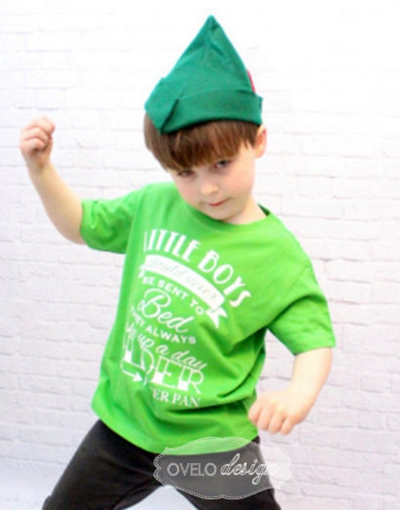 Little Boys Should Never Be Sent To Bed They Always Wake Up a Day Older Peter Pan Quote Pictured in Apple Green HAT NOT INCLUDED