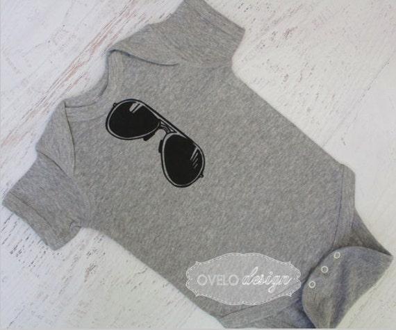 Aviator Sunglasses THE ORIGINAL Mirror Style Bodysuit pictured in Heather Grey