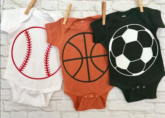 Baseball BasketBall Soccer Sports Fanatic Baby Bodysuits