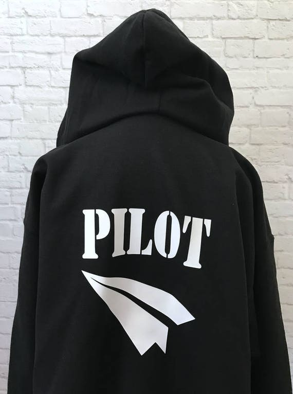 Pilot Zip Front Hoodie Thick Warm Soft Sweatshirt