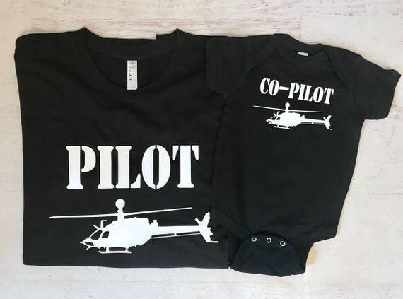 Helicopter Co-pilot Family Pick your Aviation and color Helicopter