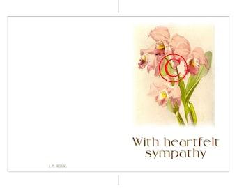 Printable Sympathy Card Iris Floral