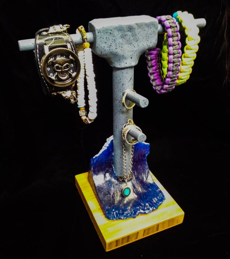 Huntington Beach Pier Surfer Jewelry Display for Necklaces Bracelet Rings by Dave C Reynolds