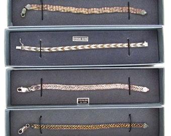 Sterling Silver Tennis Bracelets - Vintage 90s 925 Silver Bracelets - 4 Sold Separately