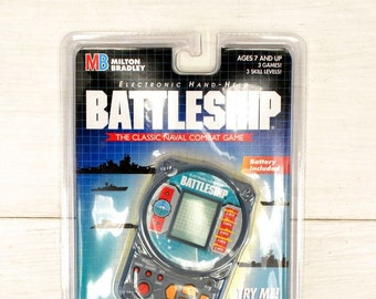 90s Battleship Game - Hand Held Vintage Electronic Travel Game - New in Original Packaging