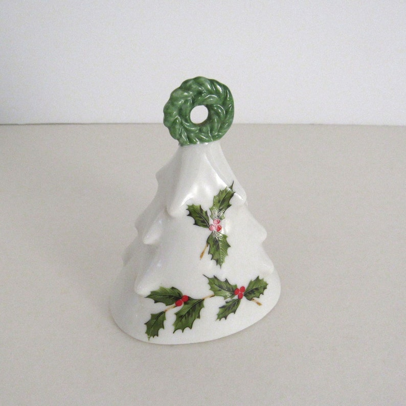 Vintage Christmas Bell Ornament  Lefton China Bell  image 0