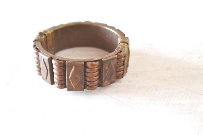 70s Cuff Bracelet  Vintage Hippie Boho Bangle Bracelet  image 0