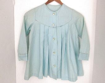 Vintage Easter Jacket - Baby Blue Kids Formal Jacket - 80s Vintage Kids Coat - 30 Inch Chest