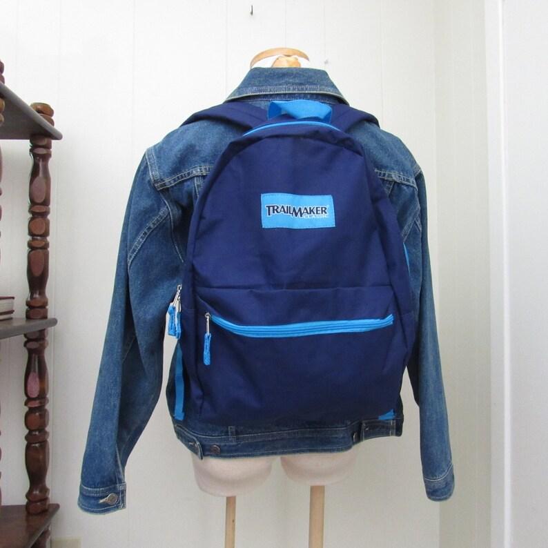 90s Backpack  Vintage Blue Trailmaker Backpack  Vintage image 0