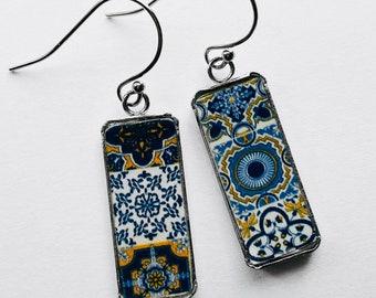 Mexican Tile Earrings