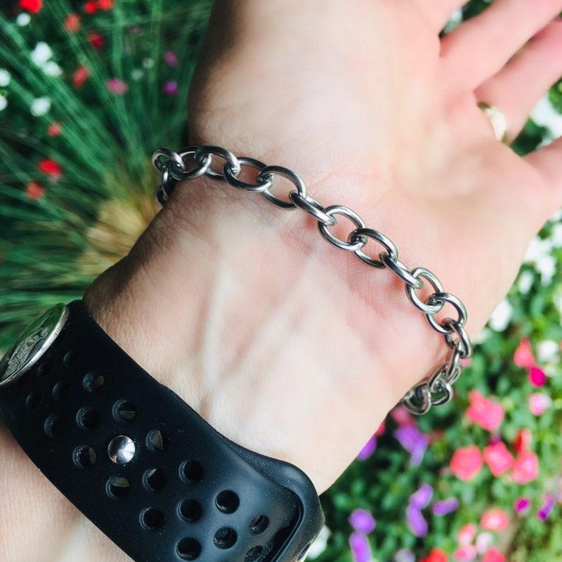 Stainless Steel Chain Fish Hook Jewelry Sterling Silver Fishhook Bracelet