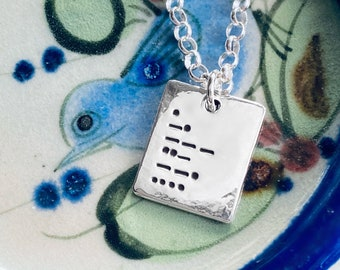 Enough Morse Code Sterling Silver Necklace And Or Bracelet