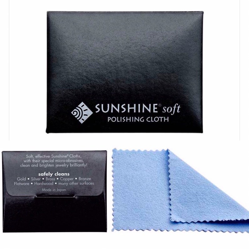 Jewelry Polishing Cleaning Cloths. Great for Sterling Silver image 0