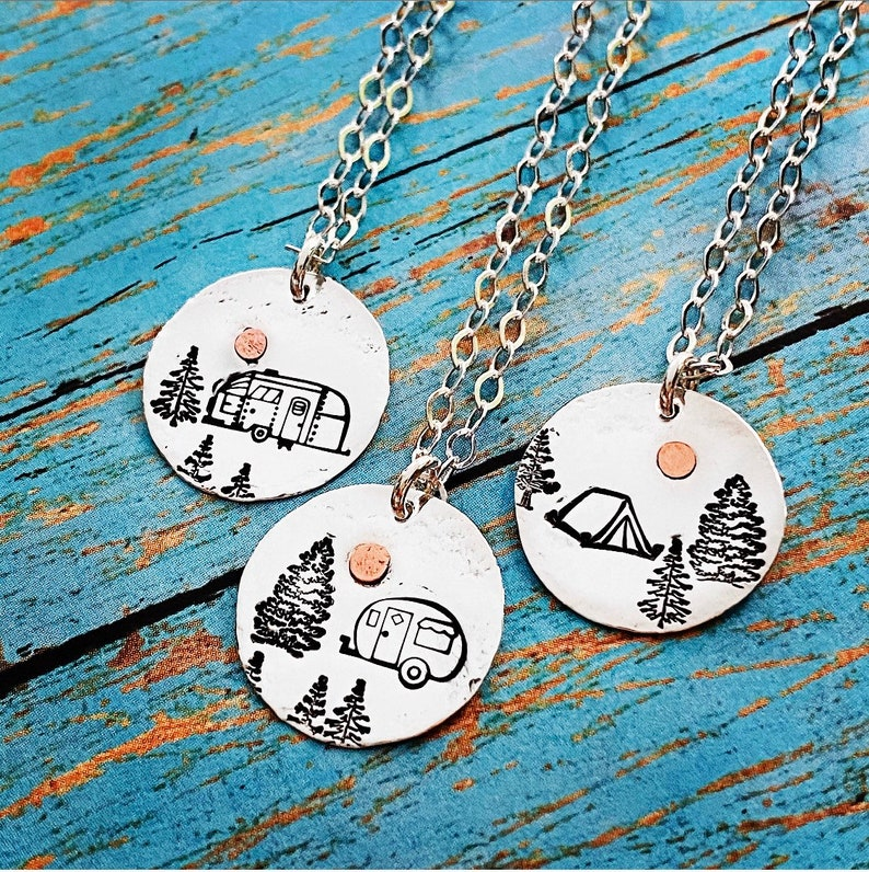 Tent Airstream Canned Ham Camping is my Sanity Sterling Silver image 0
