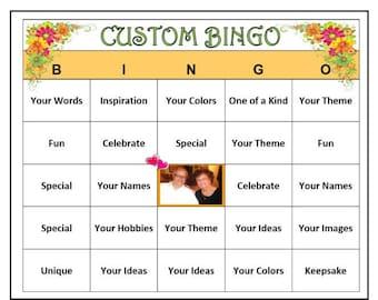 3c8f2714d Completely Custom Bingo -Your Words
