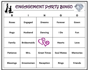 Engagement Party Games Etsy