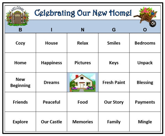 This is an image of Satisfactory Printable Housewarming Games