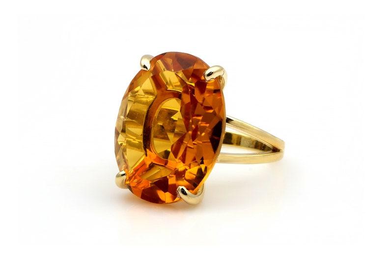 Heated Citrine Ring \u00b7 Rose Gold Ring \u00b7 Solid Gold Gem Ring \u00b7 Engagement Ring \u00b7 Bridal Ring \u00b7 Health Ring \u00b7 Energy Ring \u00b7 November Ring