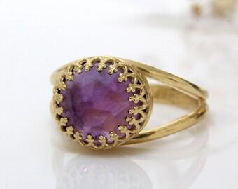 ETSY BIRTHDAY SALE - Amethyst ring,14k gold filled ring,gold rings,February birthstone ring,February stone ring,gemstone ring,delicate ri