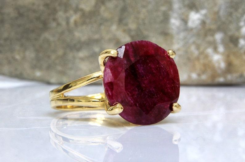 Ruby ring,July birthstone,gold ring,cocktail prong ring,bridal ring,summer ring,gemstone ring