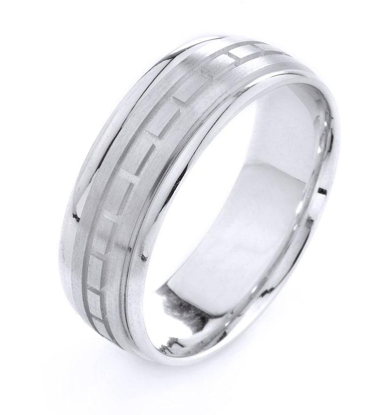 01fddc6d2e6d Hombres de la boda banda banda oro blanco anillo de hombre