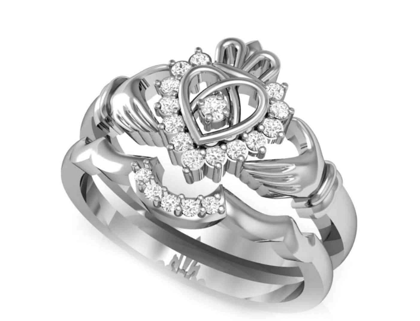 claddagh engagement ring set celtic claddagh ring claddagh. Black Bedroom Furniture Sets. Home Design Ideas