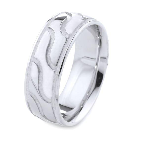 Cool Cadeau Pour Homme Bague En Or Blanc Cadeau Pour Homme Bague De Mariage Pour Hommes Le Meilleur Point De Vente Bande De Mariage En Or Bague