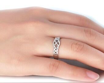 Celtic Knot Ring Sterling Silver For Women