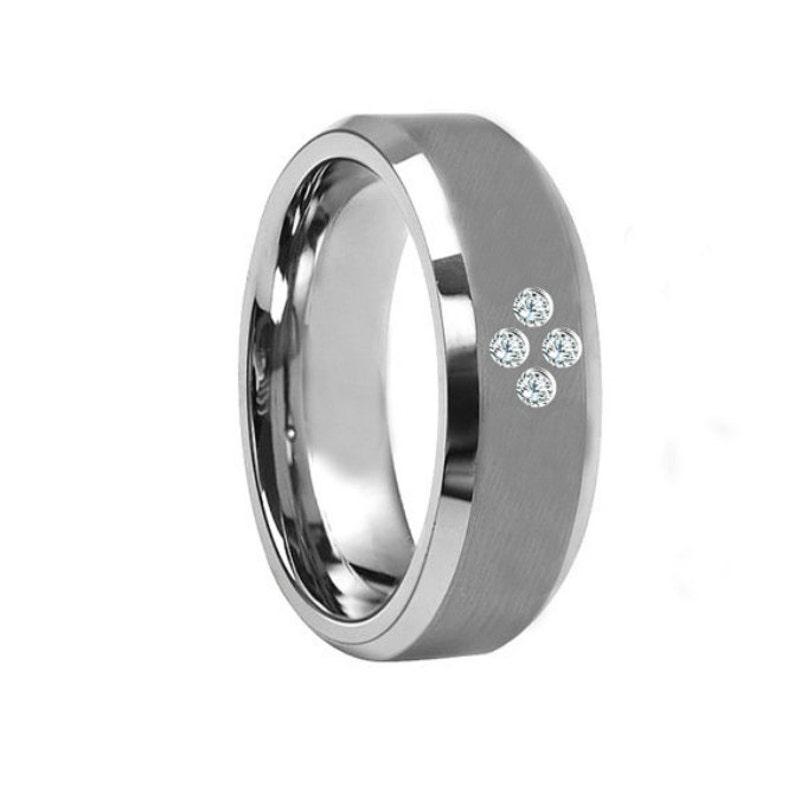 38e0106c25b1 Anillo de compromiso para hombre para hombre diamante banda