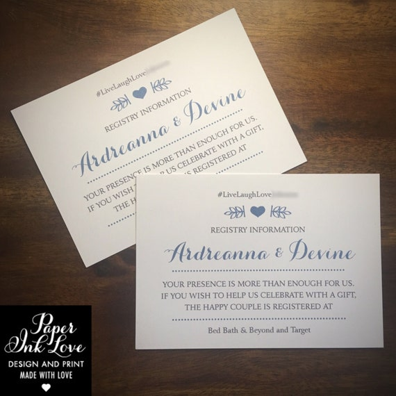 Wedding Website Enclosure Cards Invitation Inserts With Wedding Hashtag Gift Registry And Rsvp Info Gold With Heart 25 Pieces