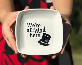 Ring Dish   Mad Hatter Tea Party   Alice in Wonderland Inspired   Ring Dish for Mom   Handmade Ceramic from my Charleston, SC Studio