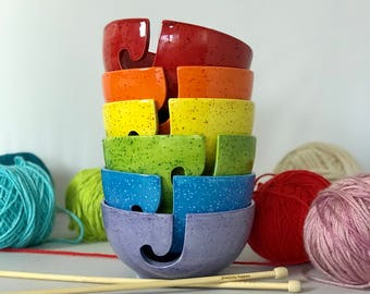 Ceramic Knitting Bowl | Fun Yarn Bowl | Knitting Bowl | Gift for Knitter | Yarn Bowls from my Charleston, SC Studio