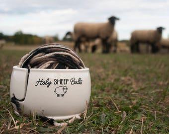 Ceramic Yarn Bowl | Holy Sheep Balls | Yarn Bowl | Knitting, Crochet, Funny yarn bowls from my Charleston, SC Studio