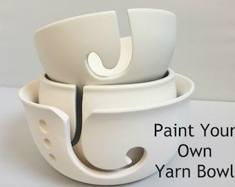 DIY Paint Your Own Yarn Bowl   Ceramic   Yarn Bowl   Choose your size   Handmade Ceramic