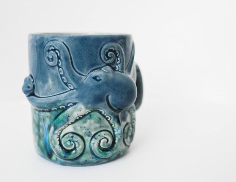Octopus Coffee Mug Handmade Ceramic Mug from my Charleston SC image 0