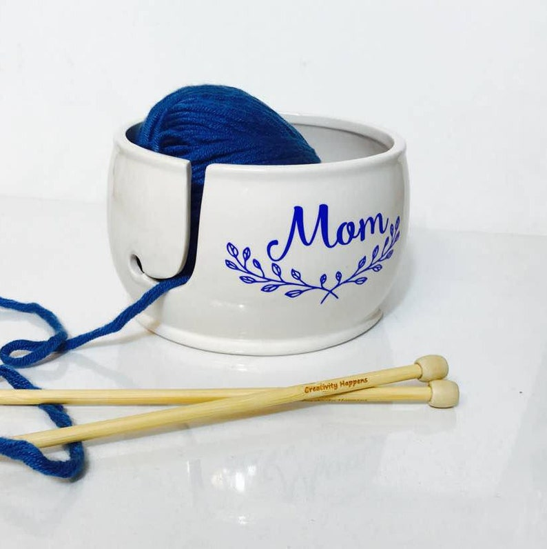 Mother's Day Yarn Bowl  Yarn Bowl Ceramic  Gift for Mom image 0