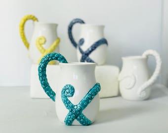 Octopus | Ceramic Mug | Coffee Mug for Mom | Beer Stein | Coffee Mug | Mug for Mom | Ceramic and Pottery Mugs from my Charleston Studio