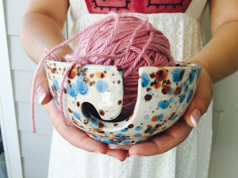 Pottery Knitting Bowl  Yarn Bowl  Knitting Bowl  Ceramic  image 0