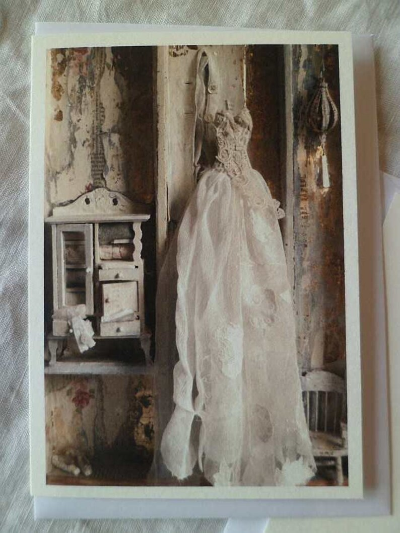 The Dolls House dress greetings card image 0