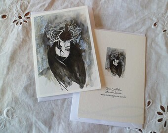 The Moth Princess (Walter De La Mare) greetings card