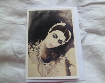 The Ballerina greetings card