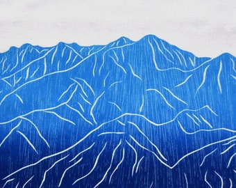 FREE SHIPPING flour sack kitchen towel dish towel tea towel Colorado Mountain Breckenridge *14er*