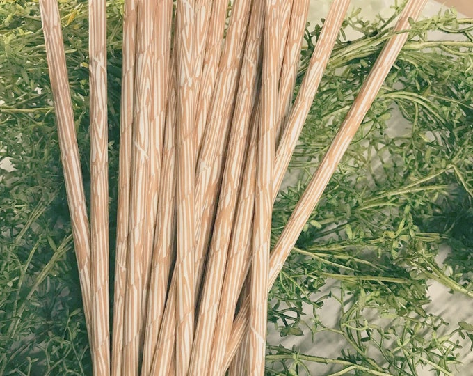 Woodgrain Paper Straws,Woodland Wedding Theme,Rustic,Ranch,Adventure,Lumberjack,Faux Bois