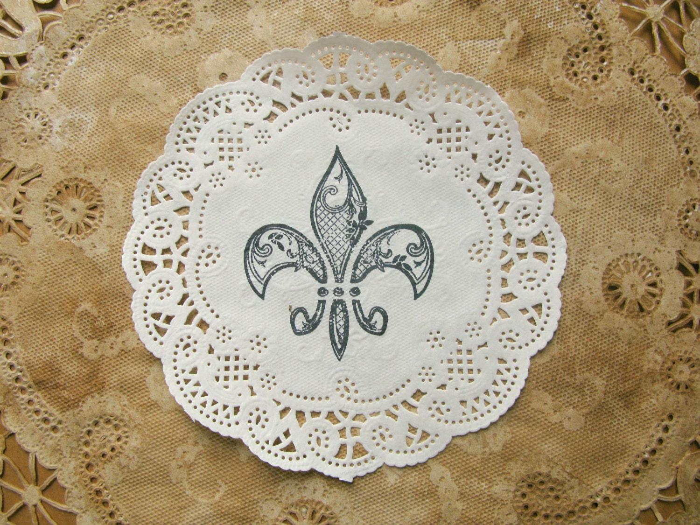 Fleur De Lis Paper Doilies 5 Lace Doily Coasters Party Doyleys Gallery Photo