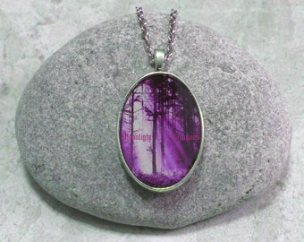 Purple Forest Necklace Jewelry Woodland Pendant
