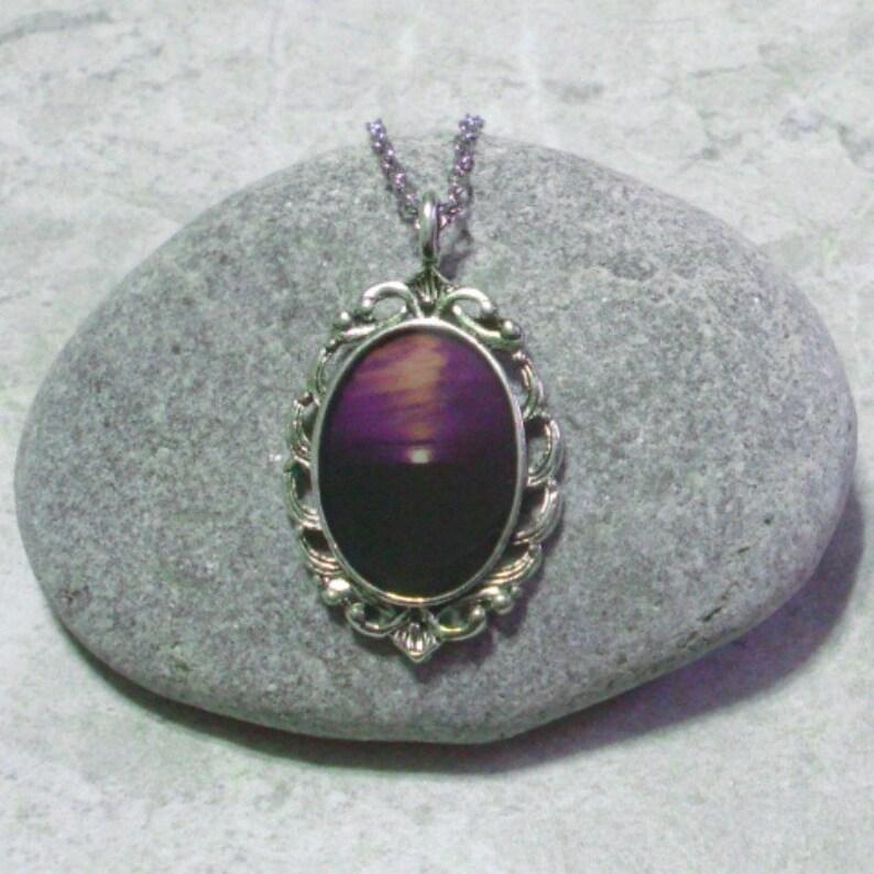 Purple Horizon Necklace Pendant Jewelry