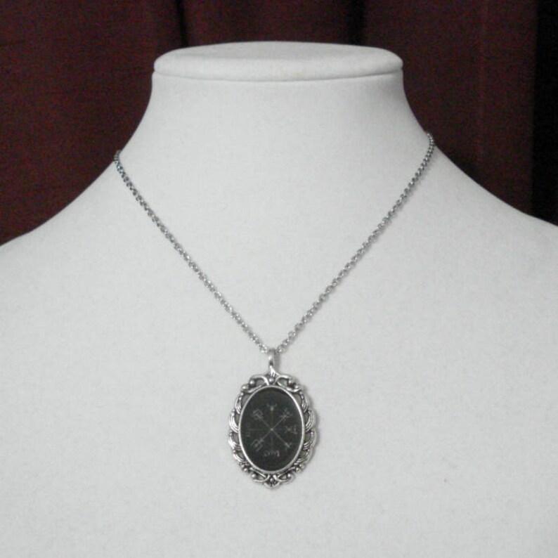 Vegvisir Necklace Viking Icelandic Norse Antique Silver