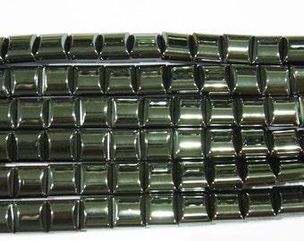 Hematite Beads 10x10mm Chewing Gum Natural Bead Semiprecious Gemstone 15''L